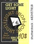color vintage light shop banner | Shutterstock .eps vector #682457818