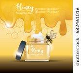 honey serum skin care ads on... | Shutterstock .eps vector #682461016