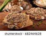 healthy wholegrain bread... | Shutterstock . vector #682464628