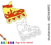 roller skate to be colored  the ... | Shutterstock .eps vector #682464892
