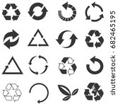 recycled eco vector icon set | Shutterstock .eps vector #682465195