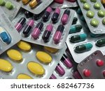 closeup medicine pill in pack... | Shutterstock . vector #682467736