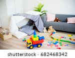 slumber party concept | Shutterstock . vector #682468342