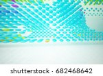 abstract architectural interior ... | Shutterstock . vector #682468642
