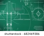 blueprints. mechanical... | Shutterstock .eps vector #682469386