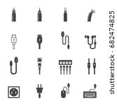 cable icons vector illustration | Shutterstock .eps vector #682474825