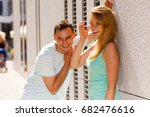 flirt  love and passion concept.... | Shutterstock . vector #682476616