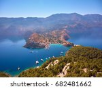 assos village and his harbor  ... | Shutterstock . vector #682481662