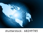 best internet concept of global ... | Shutterstock . vector #68249785