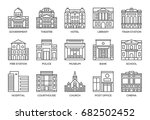 building line icons set. | Shutterstock .eps vector #682502452