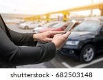 car sharing service or rental... | Shutterstock . vector #682503148