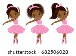 vector cute little african... | Shutterstock .eps vector #682506028