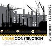 building under construction...   Shutterstock .eps vector #682506052