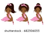 vector cute little african... | Shutterstock .eps vector #682506055