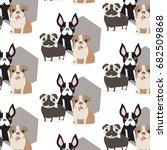 Vector Pet Pattern. Dog Cute...