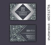 business card templates with... | Shutterstock .eps vector #682513756