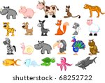 large set of animals isolated... | Shutterstock .eps vector #68252722