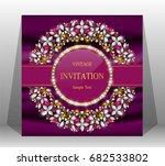 luxury wedding invitation card... | Shutterstock .eps vector #682533802
