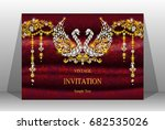 luxury wedding invitation card... | Shutterstock .eps vector #682535026