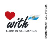 love with made in san marino... | Shutterstock .eps vector #682541935