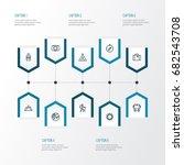 journey outline icons set....   Shutterstock .eps vector #682543708