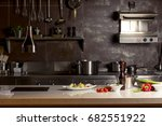 work surface and kitchen... | Shutterstock . vector #682551922