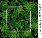white square frame on tropical... | Shutterstock .eps vector #682554922