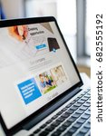 website design on a laptop... | Shutterstock . vector #682555192