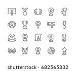 simple set of awards related... | Shutterstock .eps vector #682565332