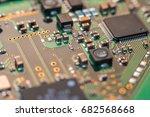 computer chip close up. hi tech ...   Shutterstock . vector #682568668