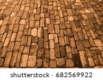 old pavement in brown color.... | Shutterstock . vector #682569922