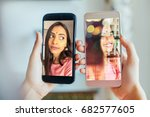 comparison of camera quality of ... | Shutterstock . vector #682577605