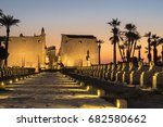 sunset at luxor temple | Shutterstock . vector #682580662