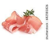 italian prosciutto crudo or... | Shutterstock . vector #682581826