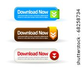 simple modern download now... | Shutterstock .eps vector #68258734