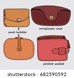 card holder  sunglasses case... | Shutterstock .eps vector #682590592