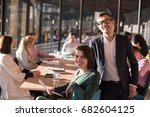 group of business people... | Shutterstock . vector #682604125