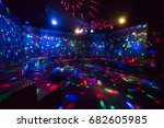 disco ball light reflection... | Shutterstock . vector #682605985