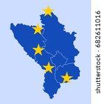 states of western balkan as... | Shutterstock .eps vector #682611016