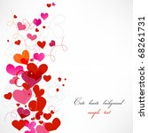 cute hearts background | Shutterstock .eps vector #68261731