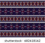 geometric ethnic pattern... | Shutterstock .eps vector #682618162
