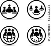 people icons.teamwork icons.... | Shutterstock .eps vector #682621186