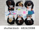 business people work with... | Shutterstock . vector #682623088