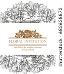 romantic invitation. wedding ... | Shutterstock .eps vector #682628872