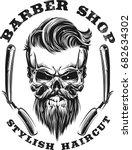 bearded skull | Shutterstock .eps vector #682634302