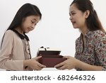 malay mother and daughter with  ... | Shutterstock . vector #682646326
