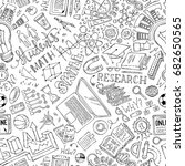 vector seamless doodles... | Shutterstock .eps vector #682650565