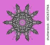 vector snowflake design | Shutterstock .eps vector #682651966