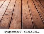 wooden background from boards... | Shutterstock . vector #682662262