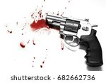 beautiful revolver and red... | Shutterstock . vector #682662736